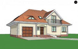 Строительство домов под ключ в Крыму - Проект Z18 GL bk