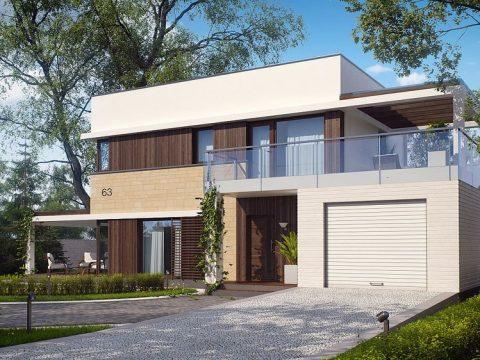 Строительство домов под ключ в Крыму - Проект Zx63
