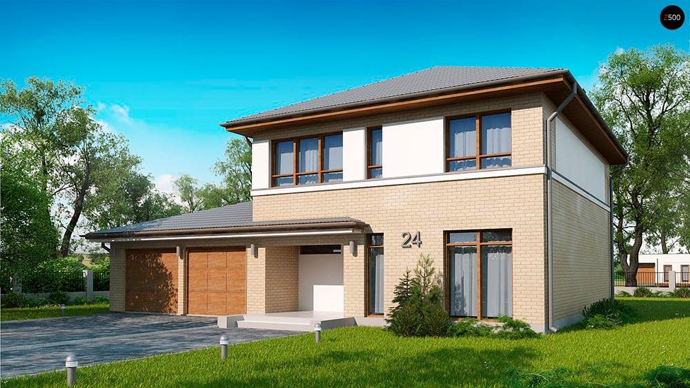 Строительство домов в Крыму под ключ - Проект Zx24 GL2