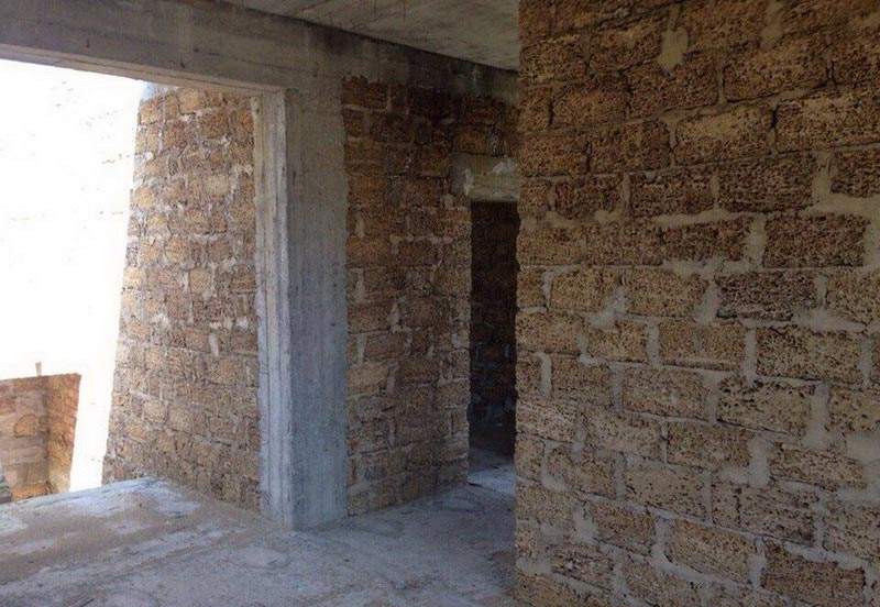 Строительство домов в Крыму - Создание перекрытий в доме из крымского камня