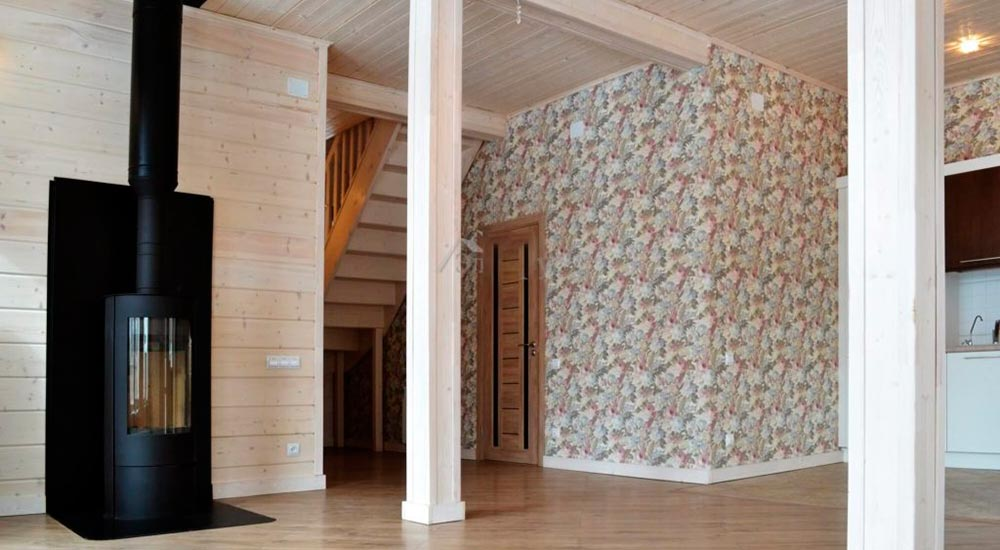 Строительство домов в Крыму - Методы декорирование и покраски СИП панелей - Обои