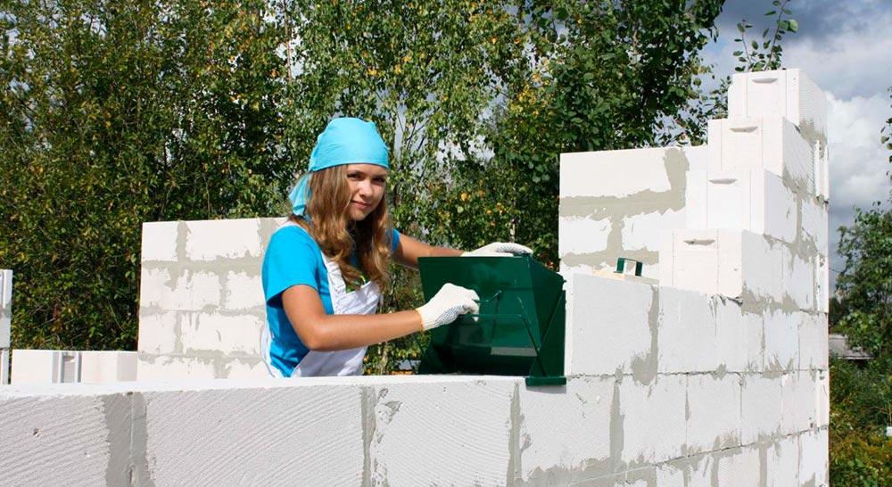 Строительство домов в Крыму - Кладочные работы