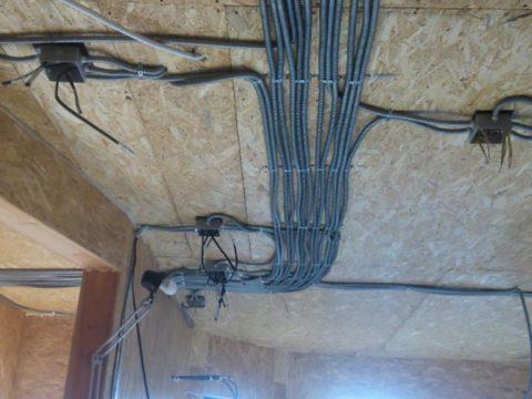 Строительство домов в Крыму - Электропроводка в домах из СИП-панелей