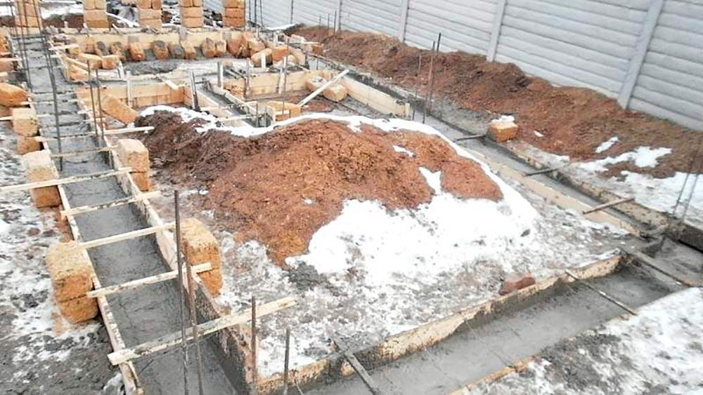 Строительство домов в Крыму - Фундамент для дома из ракушечника