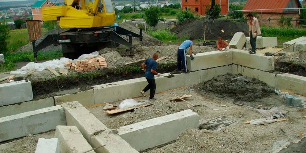 Строительство домов в Крыму - Фундамент из железобетона