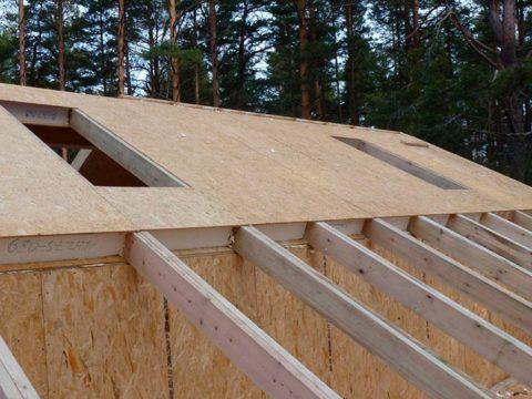 Строительство домов в Крыму - Крыши из СИП-панелей