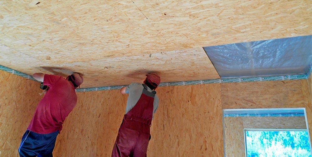Строительство домов в Крыму - Потолок для СИП-дома