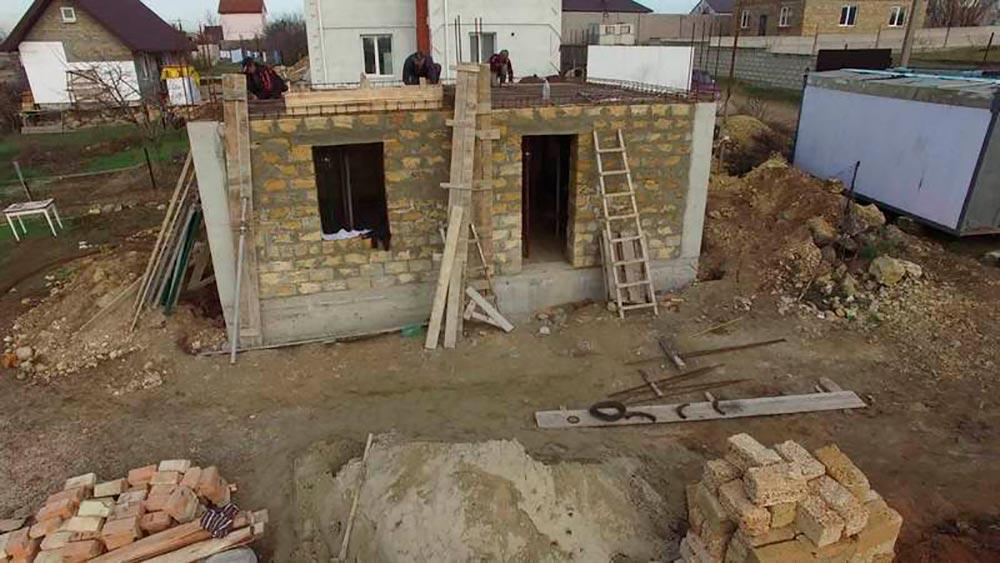 Строительство домов в Крыму - Искусство построения надежного дома. Ракушечник2