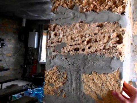 Строительство домов в Крыму - Утепляем стены дома из ракушечника