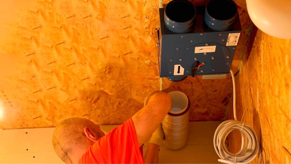 Строительство домов в Крыму - Искусственная вентиляция своими руками в СИП-доме