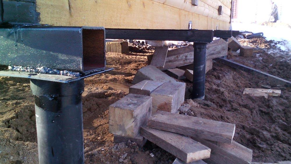 Строительство домов в Крыму - Сцепление винтовых свай