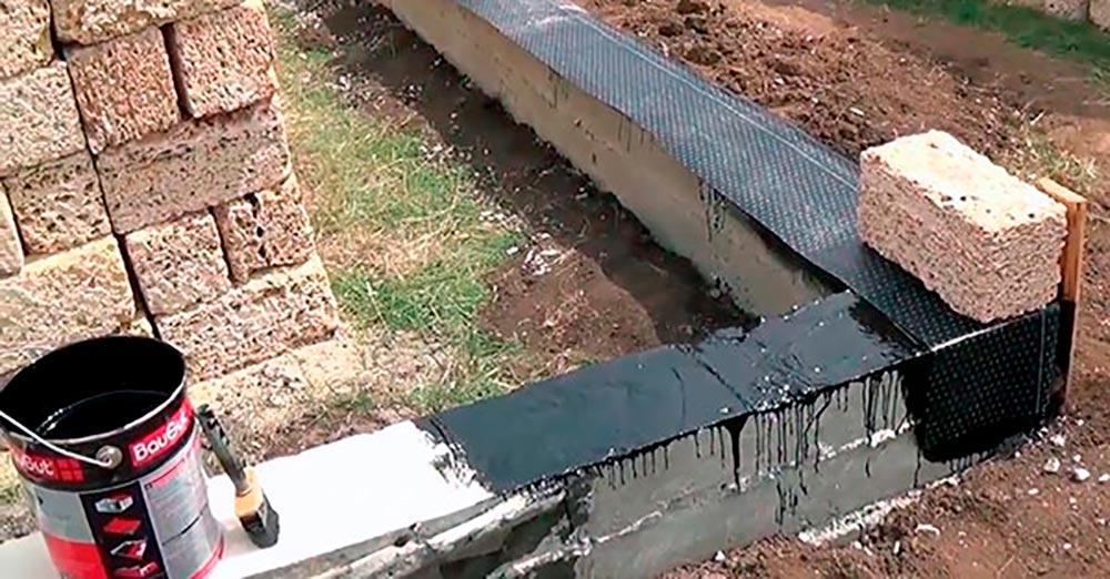 Строительство домов в Крыму - Гидроизоляция ракушечника