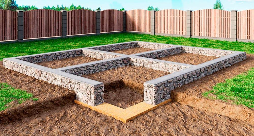 Строительство домов в Крыму - Ленточный фундамент