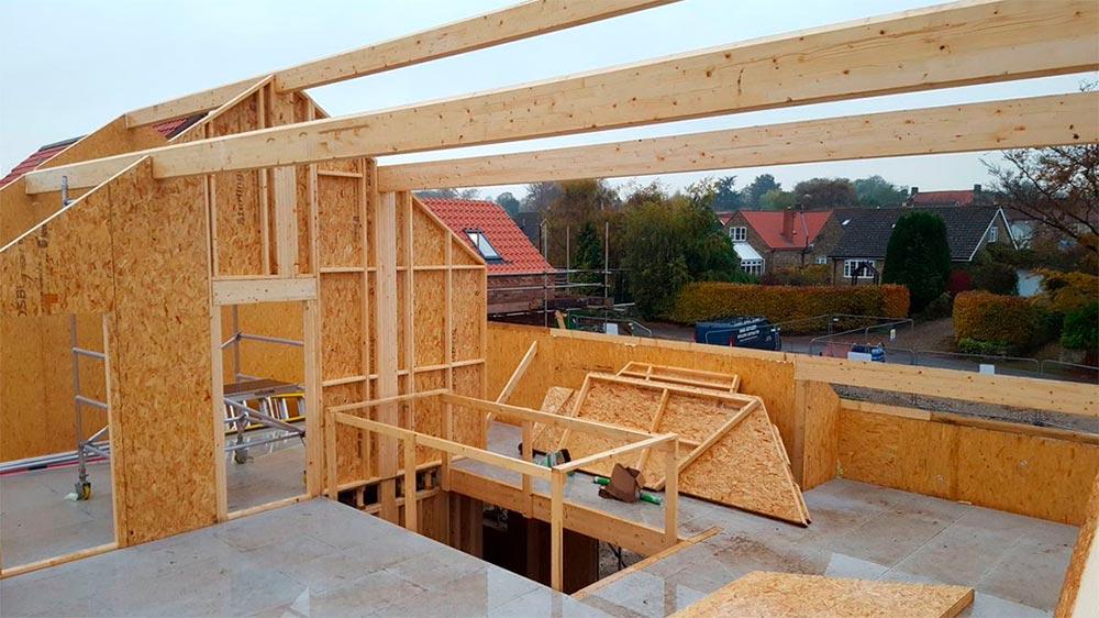 Строительство домов в Крыму - Сборка дома из СИП-панелей