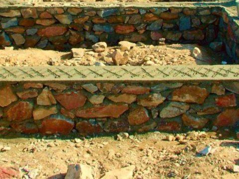 Строительство домов в Крыму - Бутобетонный фундамент