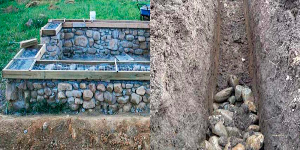Строительство домов в Крыму - Смесь из бетона для фундамента