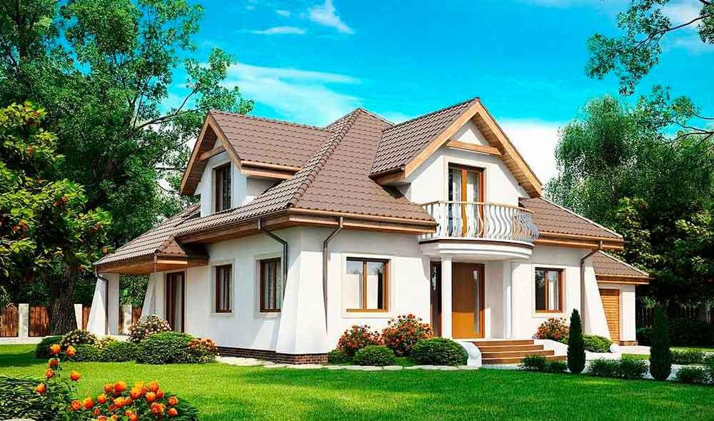 Строительство домов в Крыму - Проекты домов с эркером
