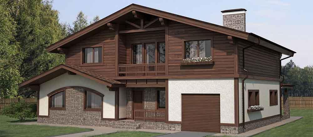 Строительство домов в Крыму - Планировка комбинированного дома