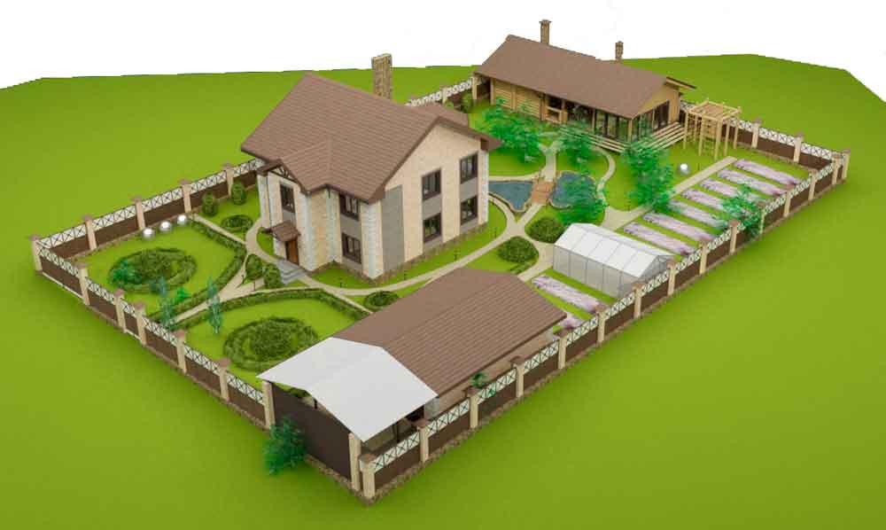 Строительство домов в Крыму - Расположение дома