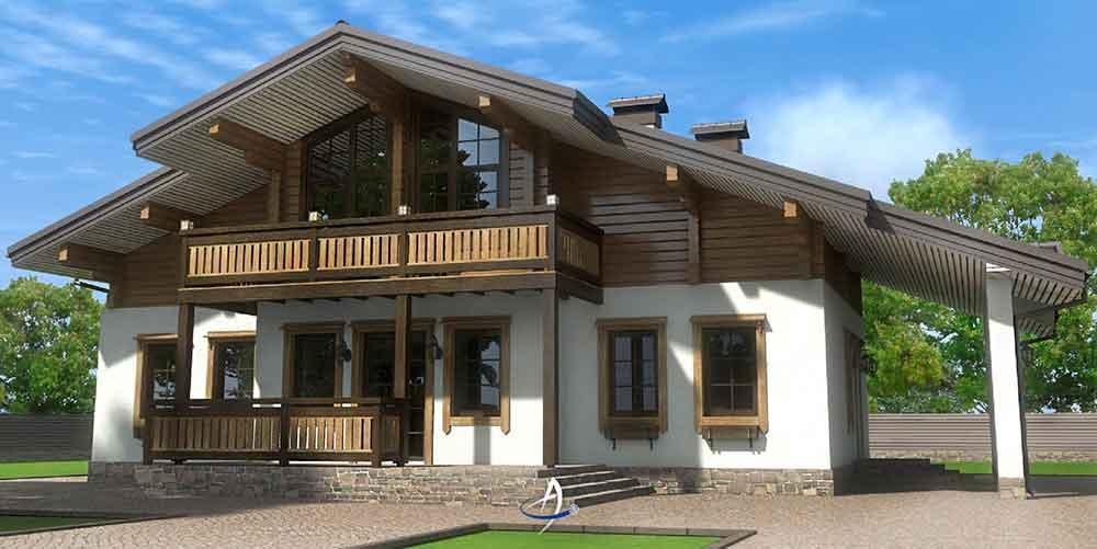Строительство домов в Крыму - Проекты комбинированных домов