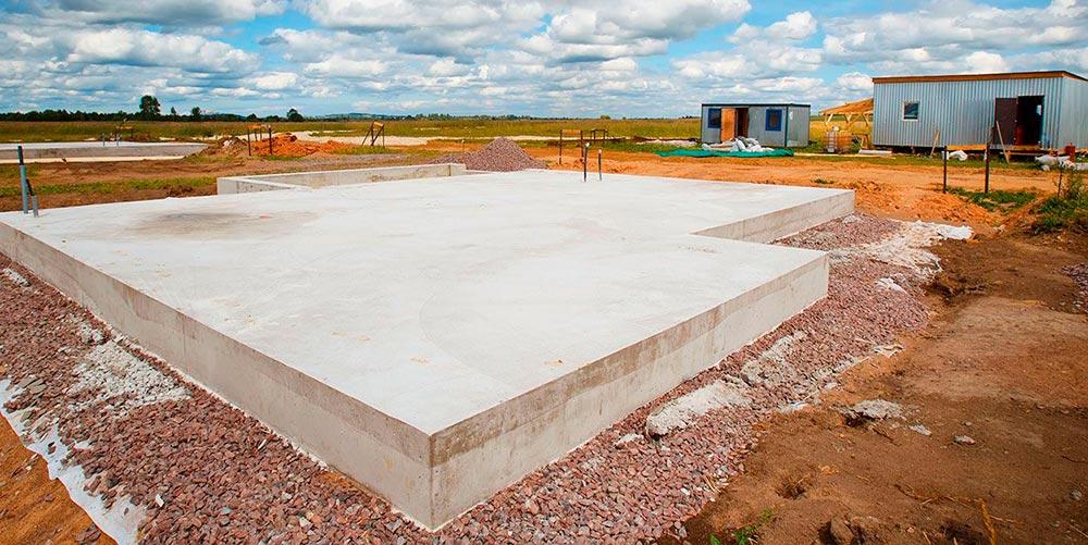 Строительство домов в Крыму - Плиты РПП фундамента
